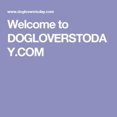 Welcome to DOGLOVERSTODAY.COM