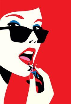 Malika Favre stunning portrait illustration of woman who devours men used as a cover for Melissa Pimentel's book titled Love By The Book Pop Art Drawing, Art Pop, Art Drawings, Art And Illustration, Portrait Illustration, Plakat Design, Pop Art Posters, Art Japonais, Grafik Design
