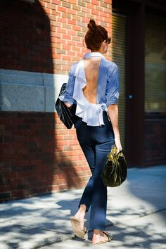 Love this top with the open back.