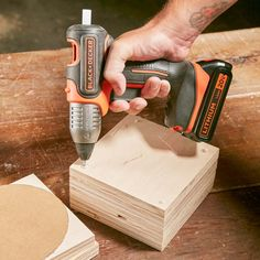 Black & Decker has transformed a useful tool into one that's super handy. Its new 20V MAX Cordless Glue Gun feels like a real tool in your hand. And it heats up in 90 seconds. Unlike most glue guns, which lie on their sides, this model stands up straight,