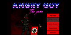 """Angry Goy, un repugnantevideojuego en el que un nazi y supremacista blanco mata a negros y judios. Al parecer, el tosco videojuego de 16 bits, pertenece a """"""""Wheel Maker Studios"""" y tien…"""