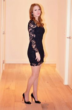 Lace Dress & Black Louboutin Pumps - Window On My Wardrobe