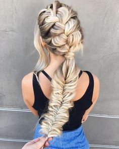 40 Braid hairstyle - Big braided ponytail #braids #braidhairstyles