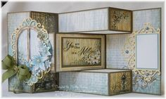 Heartfelt Creations   Botanical Window Tri Shutter Card