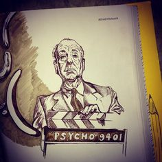 Alfred Hitchcock by Holly Machado