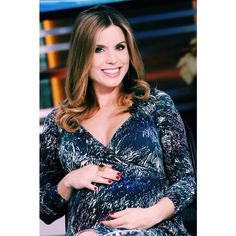 Good Day LA's Maria Sansone in her #RachelPally Long Sleeve Wrap Dress in Anemone