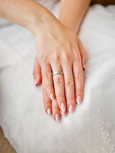 Wedding nail art - bride manicure