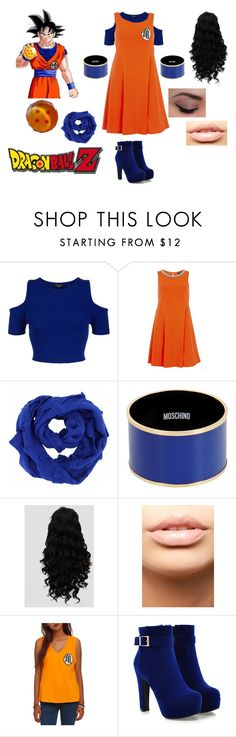 """Dragon Ball Z"" by audrey-luc ❤ liked on Polyvore featuring New Look, Dorothy Perkins, Moschino and MDMflow"