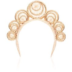 Magnetic Midnignt Cosmos headpiece ($675) ❤ liked on Polyvore featuring accessories, hair accessories and lace hair accessories