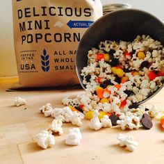 leftovers are always better.. and halloween candy is no exception. This mix is amazinnnng!  #Pipcorn #DeliciousMiniPopcorn #PartyMix #TrailMix #makeyourown #ChocolateChips #CandyCorn