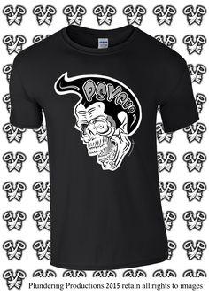 Men's: Psycho Skull Size XLarge to 3XLarge **pre-order** by PlunderingProduction on Etsy #Rockabilly #Psychobilly #Punk #Goth #Biker #Rocker #Alternative