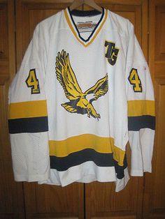 Totino-Grace-Eagles-high-school-hockey-jersey-men-039-s-XL-white-4-Minnesota