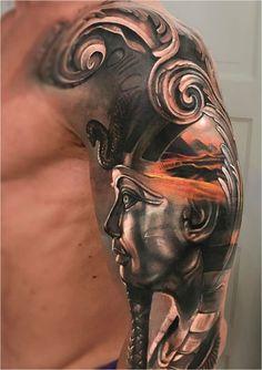 Billedresultat for egyptian pyramid tattoo designs Tattoo Henna, Tatoo Art, Diy Tattoo, Feather Tattoos, Tattoo Ideas, Osiris Tattoo, Pharaoh Tattoo, Neue Tattoos, Body Art Tattoos