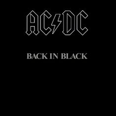 "AC/DC ""Back in Black"" album by the heavy metal group is the highest-selling album . May Considering how old this album is, is amazing. i love this album and consider it to be one of the best. I really enjoy classic rock in case you hadn't noticed. Ac Dc, Music Love, Music Is Life, Rock Music, 80s Music, Music Mix, Rock And Roll, Pop Rock, Metal Bands"
