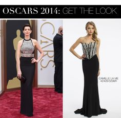 Anne Hathaway Oscar 2014 Dress vs Camille La Vie Corset Prom Dress