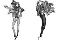 Ilustración de la moda básica.