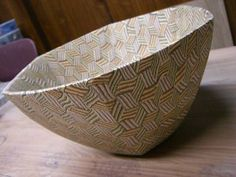 深鉢焼き上がりの画像:irodori窯~pattern pottery~