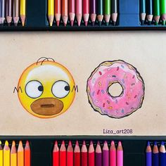 Keep calm and emoji. App Drawings, Emoji Drawings, Simpsons Drawings, Cute Disney Drawings, Kawaii Drawings, Cute Drawings, Art Sketches, Homer Simpson, Color Pencil Art