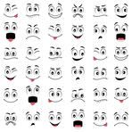 Find Cartoon faces with different expressions, featuring the eyes and mouth, design elements on white background Stock Images in HD and millions of other royalty-free stock photos, illustrations, and vectors in the Shutterstock collection. Clay Pot Crafts, Rock Crafts, Eye Painting, Stone Painting, Cartoon Faces Expressions, Snowman Faces, Different Emotions, Rock Painting Designs, Pebble Art