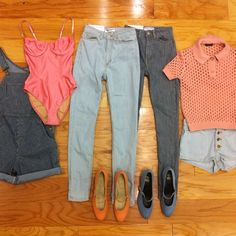 Were starting the week with rosy pinks and striped denim. Which piece is your favorite?