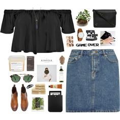 LUCKY ME by shaniaayr on Polyvore featuring Boohoo, A.P.C., Jérôme Dreyfuss, Girard-Perregaux, Melissa Joy Manning, Furla, Yves Saint Laurent, Warby Parker, Korres and Crabtree & Evelyn