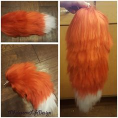 DIY furry fox tail