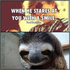 ok, this sloth will give  me nightmares....sooo creepy!