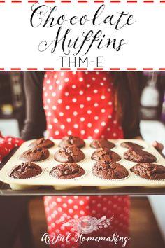 Chocolate Muffins {Trim Healthy Mama-E} - Artful Homemaking