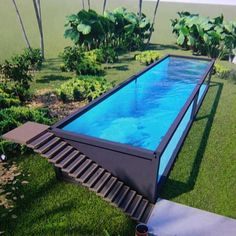 You can plan a swimming pool in any kind of dimension, form, design, or type. These dreamy swimming pool design ideas will transform your yard right into an outside oasis. Backyard Pool Designs, Small Backyard Pools, Small Pools, Swimming Pools Backyard, Swimming Pool Designs, Pool Landscaping, Pool Decks, Building A Container Home, Container House Plans