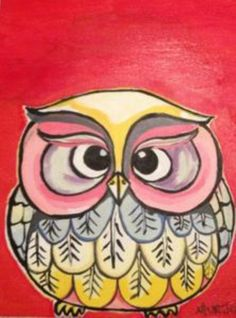 another silly owl, from Paint Nite