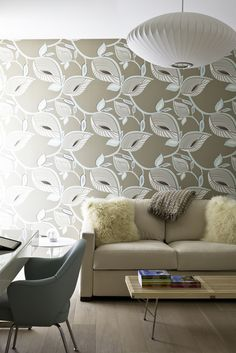 Stacy Garcia's Drama Queen wallpaper showcased in a room designed by Billy Blanco Designs. http