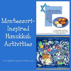 Montessori Monday – Montessori-Inspired Hanukkah Activities - Roundup of Montessori-inspired printables and activities for celebrating Hanukkah or introducing Hanukkah activities as a way of exposing children to diversity