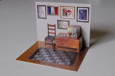 PAPER HOUSE: Room dollhousepaper: Two rooms popup by Instructables