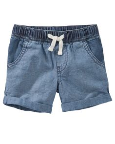 Baby Boy Denim Pull-On Shorts from OshKosh B'gosh. Shop clothing & accessories from a trusted name in kids, toddlers, and baby clothes.