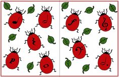 Ladybug Folder Game from a GREAT music teacher website.  Lots of PDF files to use.