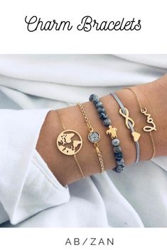 Women Jewelry New Stylish Leaf Style Bracelet 4 piece Combination Bracelet CB