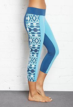 Tie-Dye Cropped Yoga Leggings | FOREVER21 - 2000123648