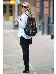 【ELLE】ケイト・ボスワースも見返り美人なバックパックに夢中|エル・オンライン