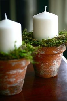 Candle Holder simple ideas for dotting around..