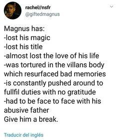 Magnus has been the true hero writers: …ehh…No