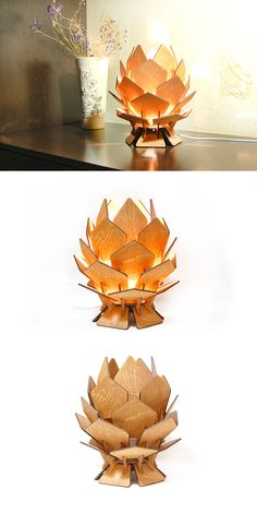 Flower lamp Bedside lamp Pinecone lamp Desktop lamp Bedroom lamp Night light wood lamp Bedroom lighting Gift for Her Table lamp Plywood lamp - ALL ABOUT Laser Cut Lamps, Desktop Lamp, Bedroom Lamps, Bedroom Lighting, Diy Bedroom, Laser Cutter Projects, Flower Lamp, Wooden Lamp, Decorate Your Room