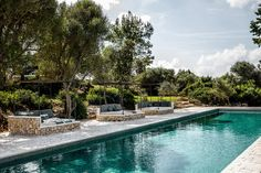 We journey to the Balearic island of Menorca to explore one of its newest luxury stays; The Finca Es Bec d'Aguila by Atelier du Pont. Rue Verte, Garden Pavilion, Rural Retreats, Vernacular Architecture, Balearic Islands, Green Marble, Large Homes, Renting A House, Swimming Pools