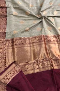 Pastel Handloom Banarasi Tussar Silk Saree #Banarasisari#georgettesaree#handloom#traditional#border#Indianwear#