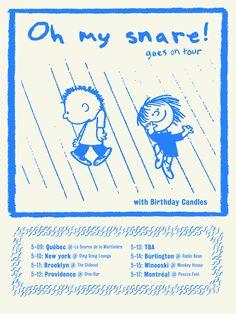 Hommage à Charlie Brown pour la tournée américaine d'Oh my snare!