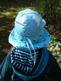 Sommer sun hat for Babys and Toddlers - free sewing pattern and instructions