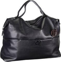 Marc O´Polo Handbag L Soft Natural Cow Black - Handtasche