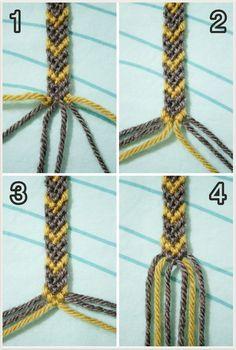 Friendship bracelet in arrow design, pictures and tut - macrame + bracelets - . - Friendship bracelet in arrow design, pictures and tut – macrame + bracelets – - Diy Bracelets With String, Yarn Bracelets, Diy Bracelets Easy, Bracelet Crafts, Ankle Bracelets, Braided Bracelets, Paracord Bracelets, Arrow Bracelet, Bracelet Chevron