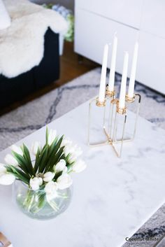 Be&liv Quartet - modernia kultaa olohuoneessa Candelabra, Minimalist Design, Coconut, About Me Blog, Place Card Holders, Candles, Posts, Table Decorations, Spring