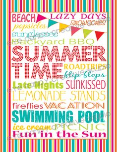 Eye Candy Creative Studio: FREEBIE :: SUMMER Subway Art #makeblogshare