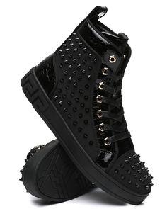 Buy High Top Spike Sneakers Men's Footwear from AURELIO GARCIA. Find AURELIO GARCIA fashion & more at DrJays.com All Black Sneakers, High Top Sneakers, Shoes Sneakers, Sweater Boots, Sweater Hoodie, Pink Dolphin, Diamond Supply Co, Famous Stars, Men's Footwear